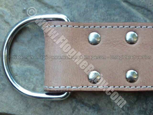 DOUBLE TROUBLE Brown Leather Slapper