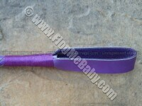 PURPLE LEATHER RIDING CROP